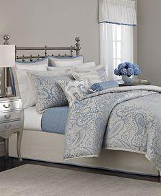 Martha Stewart Collection Gemstone Paisley 22 Piece Queen Comforter Set