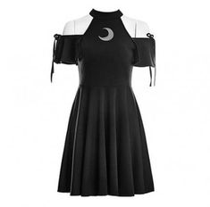 Gothic fashion 761038037009296877 - Gothic Wiccan Open Shoulder Moon Dress Source by ainhoalecaa Gothic Outfits, Edgy Outfits, Cosplay Outfits, Cool Outfits, Party Outfits, Teen Fashion Outfits, Fashion Dresses, Fashion Ideas, Fashion Clothes