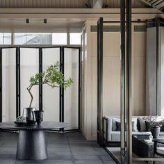 苏州万科·大家售楼处 乐尚设计 Oriental Restaurant, Architecture Images, Lounge Design, Suzhou, Beach Hotels, Commercial Interiors, Beautiful Interiors, Interior Design Living Room, Ceiling Lights
