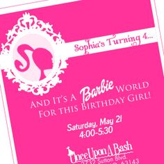 Apparently Lulu wants a barbie party now...
