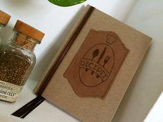 handmade bookbinding / cook book / RECEPTY/ KUCHAŘKA v režném provedení pro muže