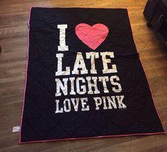 Victoria's Secret Pink Twin Comforter-Rare--I Love Late Nights #VictoriasSecret