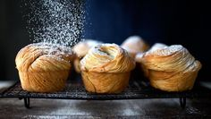 Check out this recipe for cruffins.  A standard kitchen tool is the secret weapon needed to make these croissant-muffin mashups.