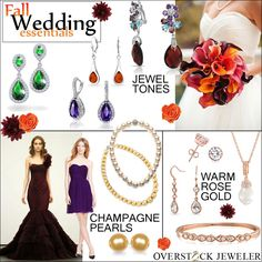 The Perfect Colors for Fall Wedding Jewelry