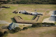Fort Caswell  Aerial Photography of Southport / Oak Island NC area by High Tide Helicopters (Cape Fear Regional Jetport - Oak Island, NC | Tel: 910.477.1926 | Email: info@hightidehelicopters.com.