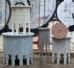 moroccan style - note side tables for subtle accents