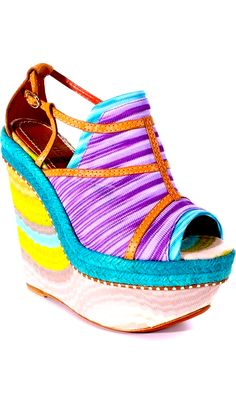 The higher the wedge the closer to god. Especially in Missoni!