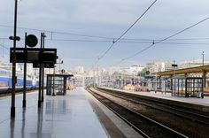 Marseille train station, which is - as you can see - located directly in the city center!