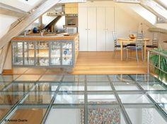 carrelage en verre sol en verre plancher