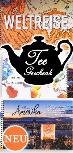 Tee Weltreise verschenken   idaviduell   eine witzige Geschenkidee  #teekanne #weltreise #geschenkidee #teegeschenk #tee How To Make Tea, Types Of Tea, Travel Gifts, Pomegranate, Special Gifts, Good Day