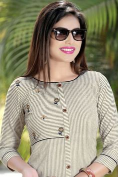 Buy Womens Clothing Online Turkey opposite Office Wear Ankle Boots regarding Women's Clothes Manufacturers Churidar Designs, Kurta Designs Women, Blouse Designs, Cotton Kurtis Designs, Stylish Office Wear, Casual Office, Office Uniform, Simple Kurti Designs, Kurti Embroidery Design