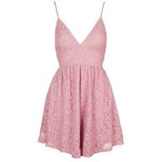 Dress by Oh My Love ($50) ❤ liked on Polyvore featuring dresses, romper, vestidos, skater dress, topshop, fit and flare dress, pink skater dress and pink fit-and-flare dresses