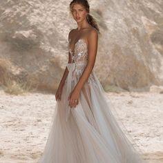 New@musebybertaVista Mare collection #MusebyBerta #Berta #vakkowedding #bridal Popular Wedding Dresses, Stunning Wedding Dresses, Perfect Wedding Dress, Wedding Gowns, Wedding Dress Silhouette, Berta Bridal, Couture Dresses, Bridal Collection, Luxury Wedding