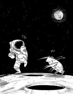 strange encounters by scrii on DeviantArt Astronaut Drawing, Astronaut Illustration, Space Illustration, Astronaut Wallpaper, Space Pirate, Man On The Moon, Arte Pop, Moon Art, Cute Characters