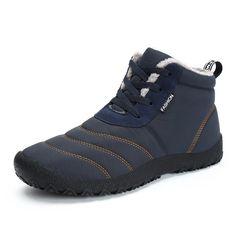 6f7eaa09e Large Size Men's Stripe Waterproof Plush Lining Stripe Ankle Boots Peluche,  Hombres Grandes, Guarniciones