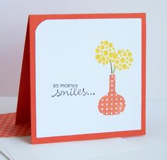 Julie's Stamping Spot -- Stampin' Up! Project Ideas Posted Daily: Summer Smooches 3x3 Cards + Corner Rounder Tip