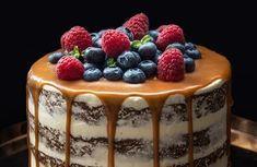 Není vláčnějšího dortu než mrkvového. Mrkev korpus nejen osladí, ale také mu dodá neuvěřitelnou vláčnost a šmrnc. A v kombinaci s karamelem a ovocem je pak takový dort naprosto neodolatený. Sweet Cakes, How Sweet Eats, Cake Art, Food Art, Baking Recipes, Sweet Recipes, Cake Decorating, Cheesecake, Good Food