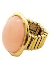 Inel auriu cu piatra mare ovala/ oversized ring- Venetian Affair- spring collection 2013