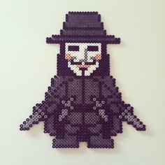 V of Vendetta hama beads by colorshock2013