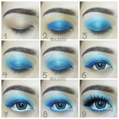 Inside Out Sadness eye makeup inspired pictorial!