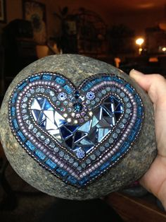 Rock of Love by Moonjewelsandmosaics on Etsy, $45.00