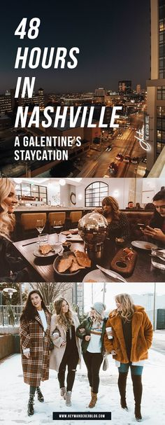 A Galentine's Staycation: 48 Hours in Nashville / Travel Blog and Vlog!