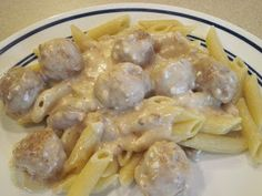 My Favorite Recipes...: Creamy Easy Meatballs with pasta
