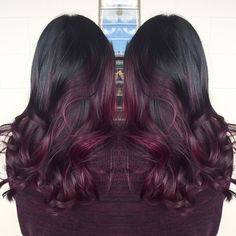 Fall inspired violet-red on @themaryberry! #keannehair