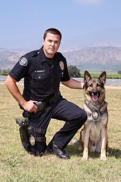 "Officer Scott Garrett and K-9 ""Eros Vom Inglishaus"" became partners in February 2007.  Ventura, CA"