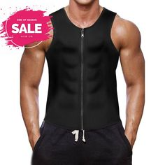 0ec4fed955 BURUNST Men s Waist Trainer Vest - Neoprene Slimming Corset Body Shaper...   fashion