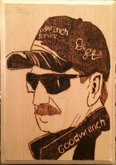 Dale Earnhardt wood-burn , another of my latest creations , i put a lot of detail into it as well.