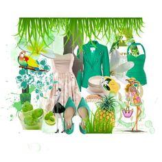 Le Paradis vert - Polyvore creation