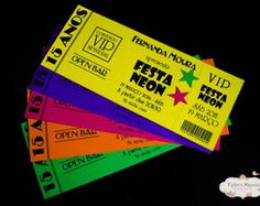 Convite Festa Neon Mais
