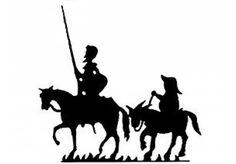Silueta de Sancho y Quijote