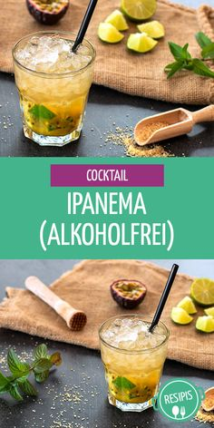 Ipanema is a simple non-alcoholic cocktail. He is also called Ginger Caipi or Virgin Caipi. Informations About Ipanema – alkoholfreier Cocktail (Rezept) … Non Alcoholic Cocktails, Prosecco Cocktails, Easy Cocktails, Summer Cocktails, Drink Party, Popular Cocktail Recipes, Christmas Cocktail, Margarita Recipes, Tequila