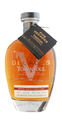 Tomintoul Five Decades Bourbon Whiskey, Scotch Whisky, Whisky Tasting, Single Malt Whisky, New Flavour, Distillery, Scotland, Perfume Bottles, Treats