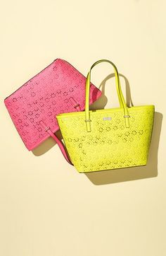 perforated Kate Spade totes. The colors are perfect for summer.