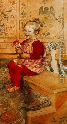 Carl Larsson: Lisbeth - 1894 - Carl Larsson, Swedish painter and interior designer - Art Nouveau Carl Larsson, Carl Spitzweg, Munier, Little Doll, Arts And Crafts Movement, Museum Of Fine Arts, Les Oeuvres, Illustrators, Art Photography