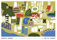 rio de janeiro illustrated map