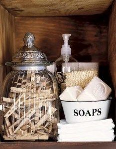 Love the laundry room decor! Especially a glass jar for clothes pins!