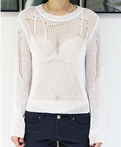 White Pointelle Knitwear