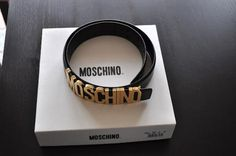 Iconic moshino belt, a must get belt that accentuates your waist regardless what kind of dress you choose on that day