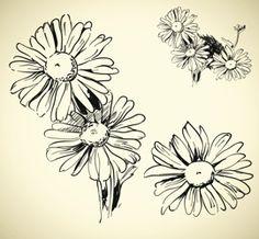 Daisy Outline Tattoo Idea                                                                                                                                                                                 More