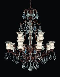 1-1831-12-8 Alessia 12 Light Chandelier by Savoy House