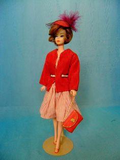 Vintage 11  Barbie Lilli Clone Doll w Dress, Coat, Shoes, Hat, Leather
