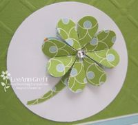 Clover - punch 8 hearts & fold each in half. Tip - fold paper in half & then punch.
