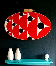 Custom Modern Hoop Wall Art by 9Red | Hatch.co