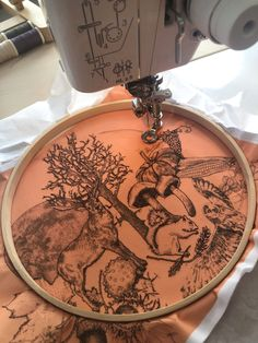 Master freehand machine embroidery by drawing this seasonal illustration with a sewing machine at the Handmade Festival Stacey Chapman from art sea craft sea will teach you how ✨ Freehand Machine Embroidery, Mollie Makes, Sea Crafts, Pet Portraits, The Hamptons, Artisan, Yummy Food, Events, Drawing