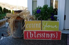 """Creative """"Try""""als: """"Count Your Blessings"""" Thanksgiving Decor"""