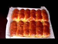 Minibatoane foarte pufoase cu unt, pentru micul dejun, reteta de colectie - YouTube Hot Dog Buns, Waffles, Breakfast, Desserts, Sticks, Youtube, Sweet Treats, Recipes, Bread